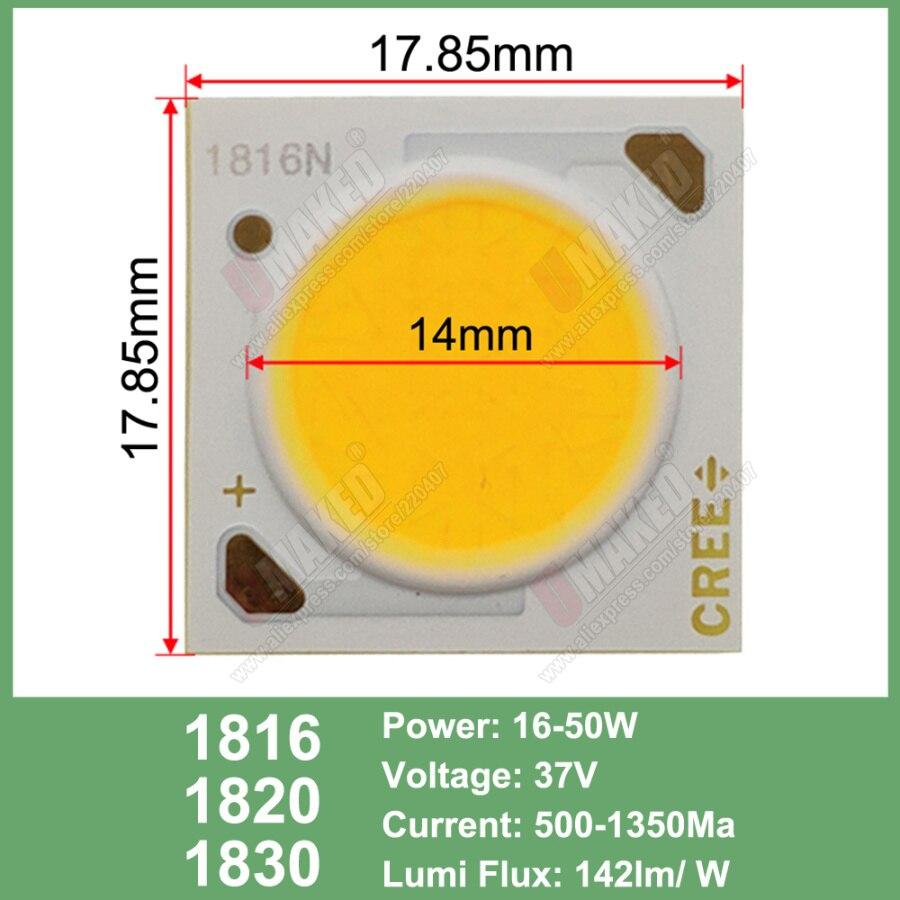 Image 4 - 10 قطعة Cree CXA الأصلي 10 واط CXA1304 15 واط CXA1507 24 واط CXA1512 65 واط CXA2530 الباردة/الدافئة الأبيض 5000 كيلو ، 3000 كيلو COB Led XLamp رقاقة ضوءحبات الإضاءة   -