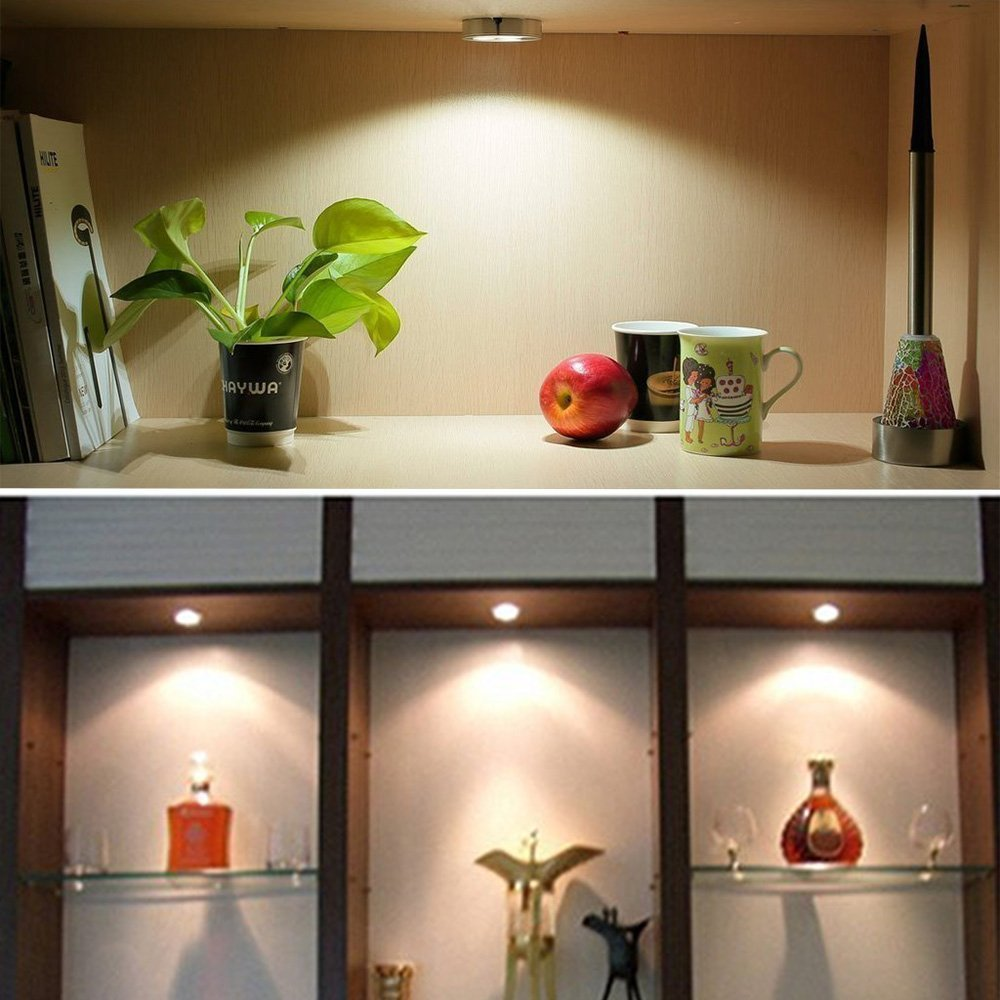 3pcs Pack Led Under Cabinet Lighting 280lm Super Bright Puck Lights 12v Dc Counter Ac85v 265v For Home Office In Bulbs S From