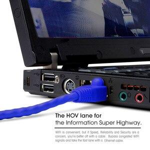 Image 2 - عالية الجودة 0.5FT 15 سنتيمتر 20 سنتيمتر UTP RJ45 8P8C كابلات إيثرنت مستديرة 24 AWG Cat5e شبكة الإنترنت التصحيح 350 ميجا هرتز LAN الحبل 5 قطعة/الوحدة