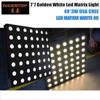 High Quality 7x7 Gold Warm White CREE Led Matrix Light 49 Head Flat Beam Light DMX