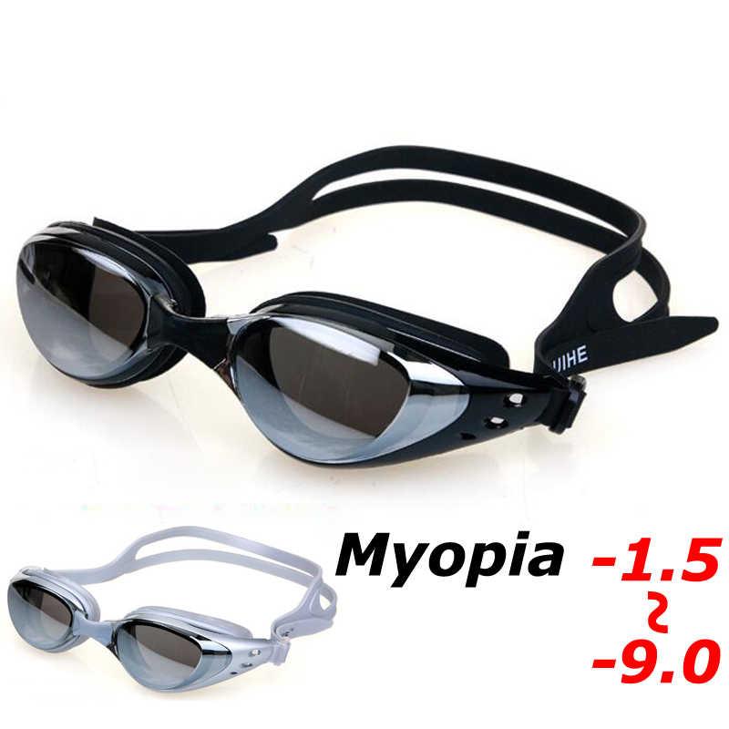 4eb60c5818e Professional Underwater Myopia Swim Eyewear Waterproof Anti Fog UV  Protection Goggles Swimming Pool Water Glasses for