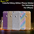 For Samsung S7 6 Edge Full Body Shiny Phone Sticker Bling Powder Sparkle Decals Matte Screen Protector Film for iphone 7 6s Plus
