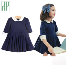цены на Girl dress summer 2017 brand toddler Girl party Dress Vintage Dark Baby girls clothes Half Sleeve Princess kids sofia dress   в интернет-магазинах