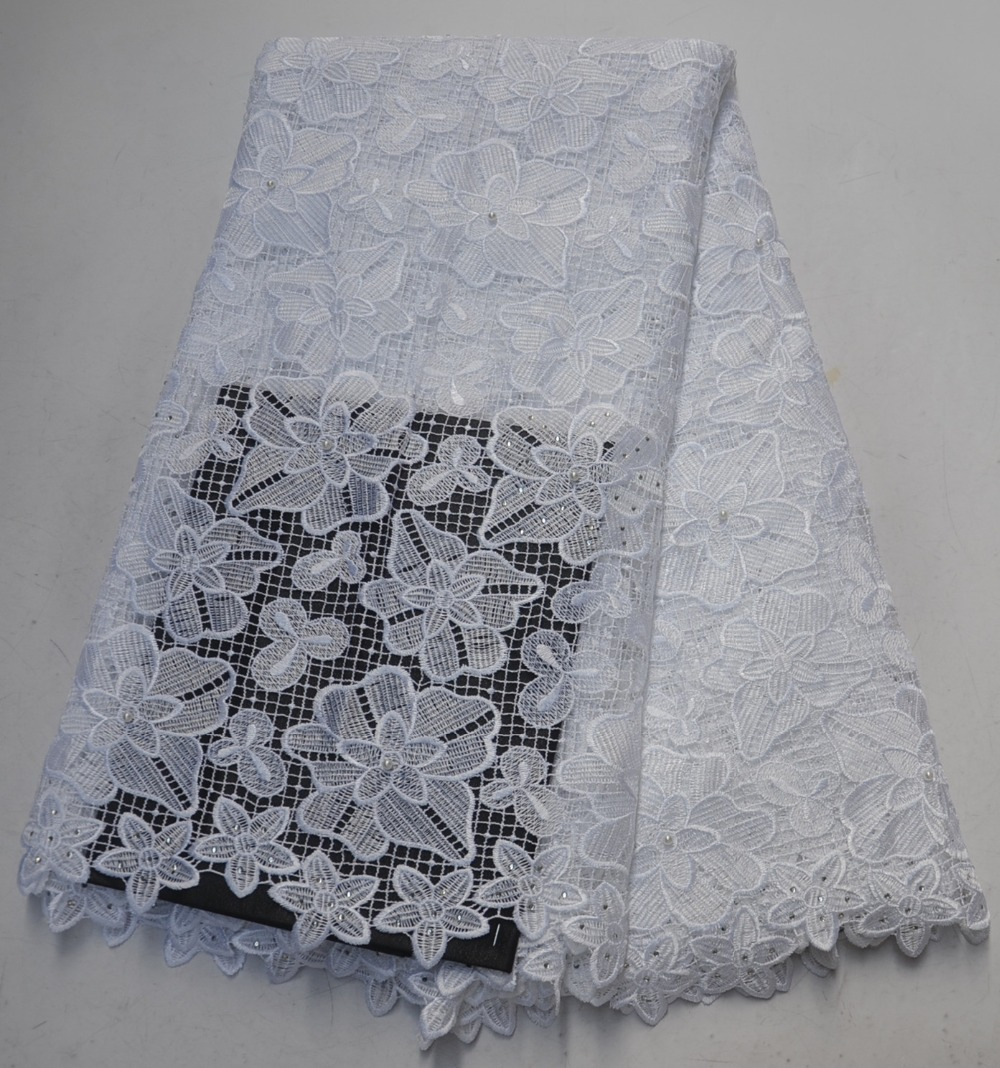 African Chemical Lace Fabric Water Soluble Nigerian Guipure Cord Laces Wedding Dress Beaded African Lace FabricAfrican Chemical Lace Fabric Water Soluble Nigerian Guipure Cord Laces Wedding Dress Beaded African Lace Fabric