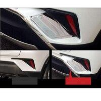 2 pçs sus304 traseira de aço inoxidável taillights side guarnição acessórios estilo do carro capa para toyota C HR CH R 2017 2018|Toldos e abrigos|Automóveis e motos -
