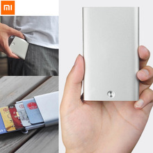 Unique Xiaomi Inventive enterprise card case Automated Pop Up Field Cowl card holder card metallic Pockets ID Card Field For Males Girls
