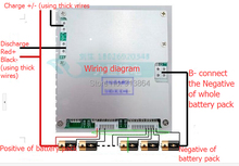 16 S Li ion / baterías Lipo junta de protección BMS sistema 60 V ( 67.2 V ) 60A descarga continua E-bik uso