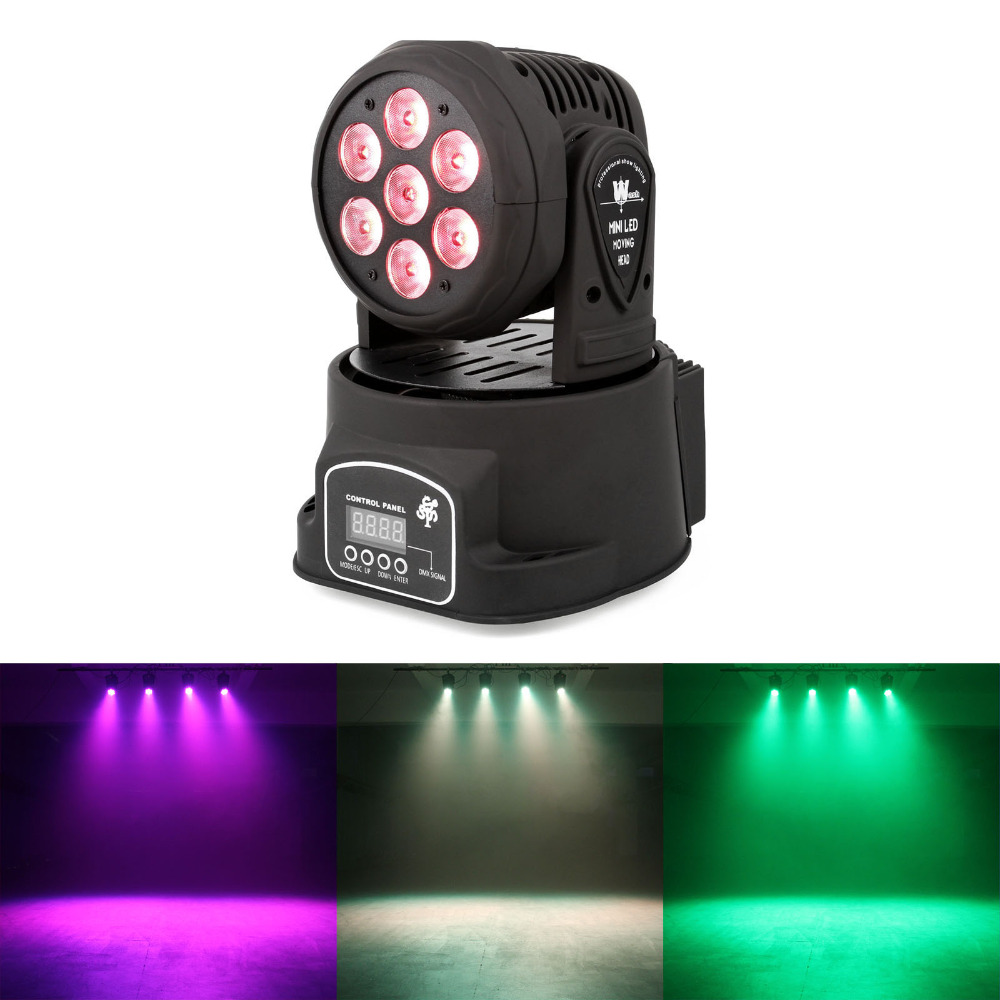 купить  TSSS 80W Moving Head Beam Par light 7x10 LED RGBW DMX DJ Stage Show Effect Wedding Lighting for Dance Floor, Club, Party  онлайн