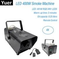 Wireless Remote Control LED 400W Fog Machine DMX 512 Smoke Machine RGB Color Mixing Stage Haze LED Dj Stage Light Smoke Thrower