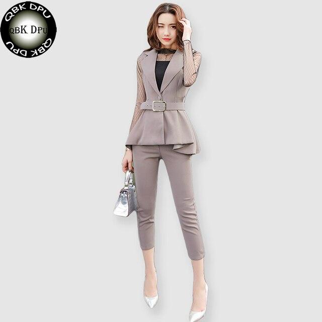 2b10383e8ce6 QBK DPU marchi di abbigliamento di affari sottile ufficio OL donne vestiti  giacca set 2017 nuovo
