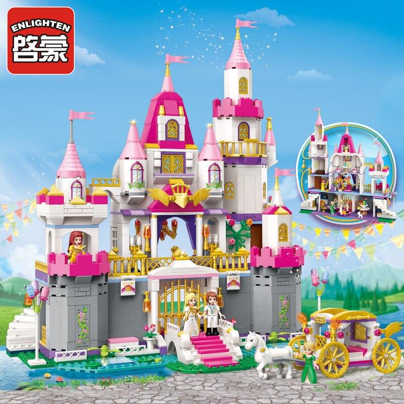 ERLEUCHTEN 2612 Mädchen Freunde Prinzessin Leah Engel Burg Abbildung Blöcke Weihnachten Geschenk Gebäude Ziegel Spielzeug Für Kinder-in Sperren aus Spielzeug und Hobbys bei  Gruppe 1