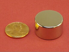 NdFeB Disc Magnet 7/8 dia.x1/2 thick Neodymium Permanent Magnets Grade N42 NiCuNi Plated Axially Magnetized ems SHIPPED 1 pack dia 4x3 mm jewery magnet ndfeb disc magnet neodymium permanent magnets grade n35 nicuni plated axially magnetized
