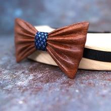MAHOOSIVE NEW 2018 Handmade wooden Bow Tie Handerchief Set Fashion Wood bow tie wedding dinner accessories corbata Gravata set