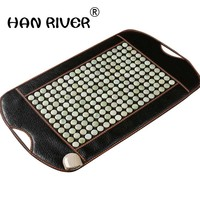 80 cm * 45 cm jade physiotherapy blanket germanium stone far infrared ms tomalin cushion stone needle massage cushion home healt