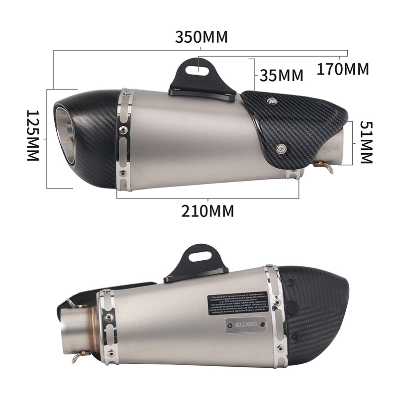 Image 2 - Universal Motorcycle Yoshimura Exhaust Pipe Escape Modified Carbon Muffler DB Killer Silencer For Ninja 400 GSXR600 K6 KTM R15-in Exhaust & Exhaust Systems from Automobiles & Motorcycles