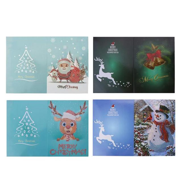 Aliexpress buy diy christmas greeting cards 5d diamond diy christmas greeting cards 5d diamond painting cross stitch for noel gift santa claus merry christmas m4hsunfo