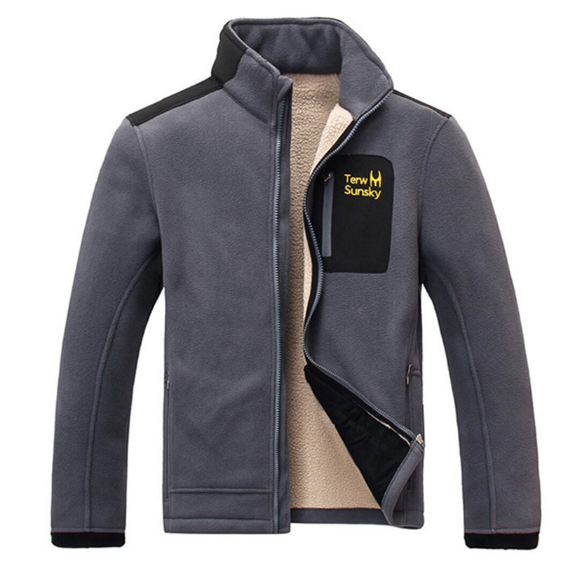 Free Shipping--HOT SALE  Terwsunsky  Men's Autumn/Winter Thickening Velvet Thermal Sports Outerwear Jackets TR028