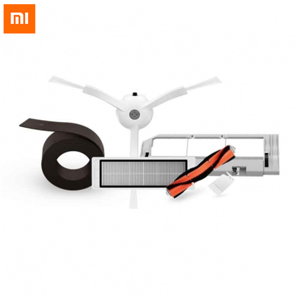 Xiaomi Robot Vacuum Cleaner Part Accessories Cleaning Spare Parts Kits Main Brush/Side Brush/HEPA Filter/Cleaning Tool Replace vacuum cleaner parts 3 x side brush 3x hepa filter 2x main brush 1 x tool suitable for xiaomi mi robot cleaning tool