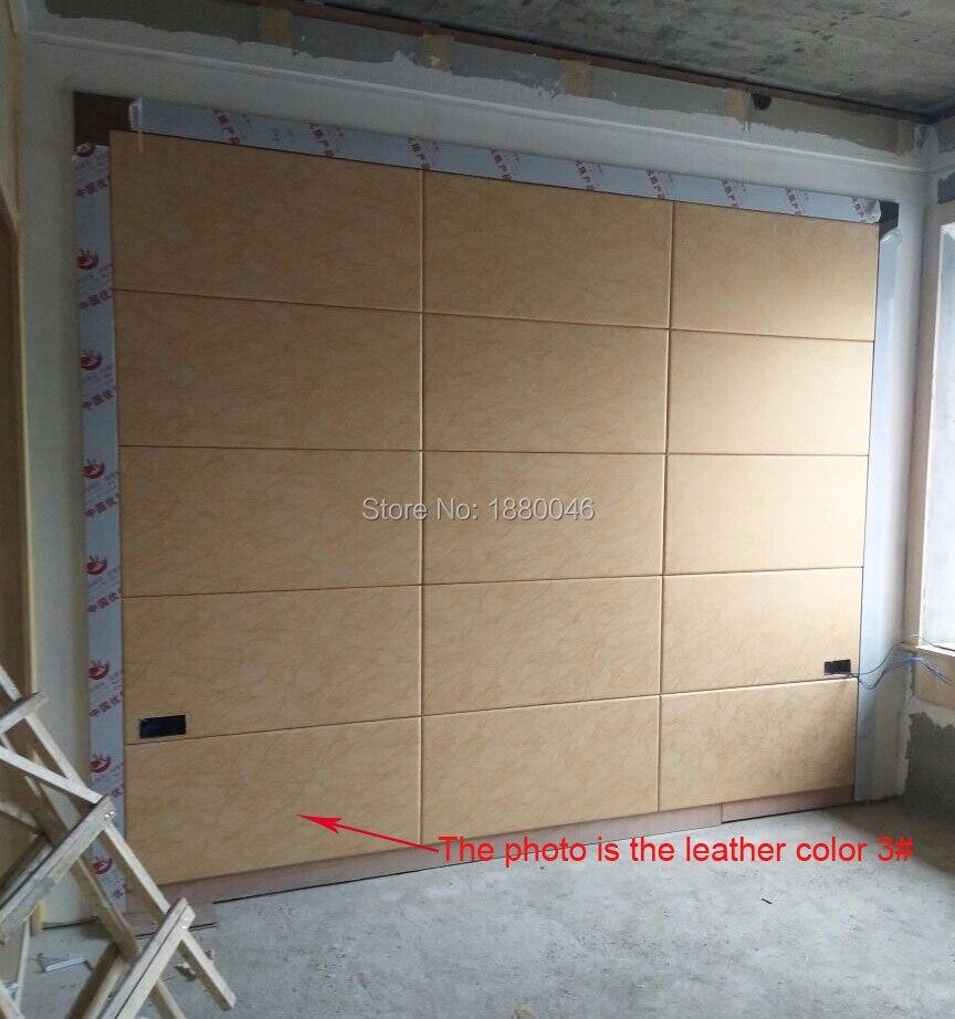 6 pièces 60*30 cm personnalisé écologique décoration murale Faux cuir panneaux PU cuir panneau 3D panneau mural et 3D revêtement mural
