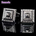 Romeda Hot Classical Silver Imitated Diamond Abotoaduras Mens Christmas Gift Gemelos Luxury Wedding Wearing Cuff Links Groom