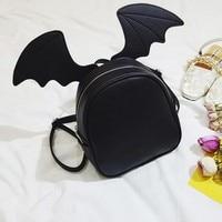 2018 Fashion PU Leather Schoolbags Cat Ears Shoulder Bag Mini Backpack Bat Wing Girls Cute Backpack for Female