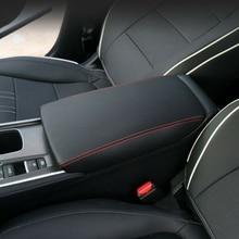 Car Armrest Box Mat Center Surface Cover Pad For Honda Accord 2018-2019 Waterproof Black Hot accord a 301b w o psu black