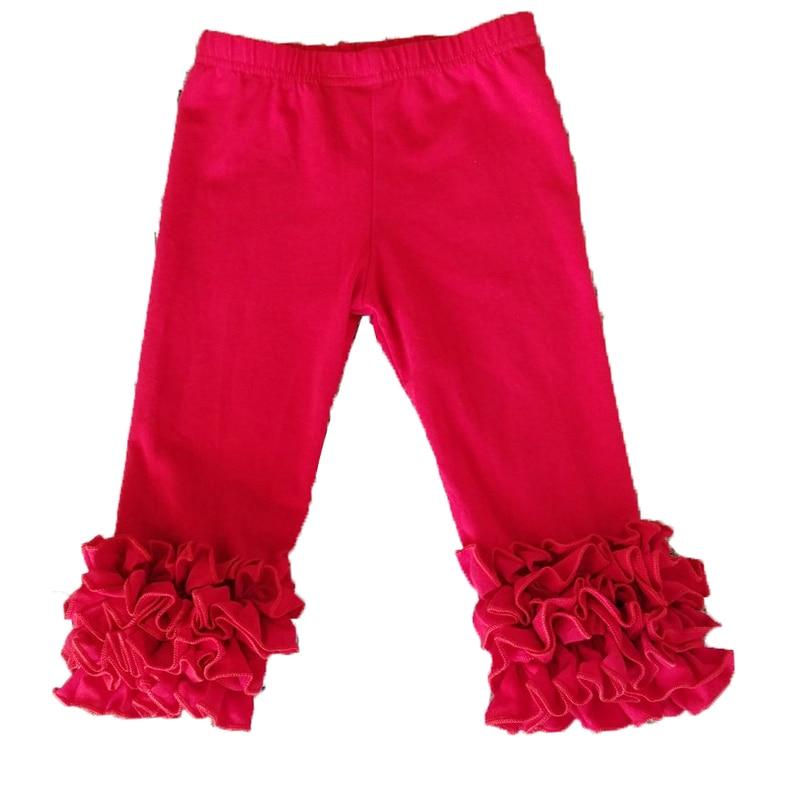 1-9years girl Ruffle   Capris   Pink knit boutique   capris   leggings girls   capris     pants   ruffle knee-length wholesale leggings