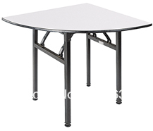 Folding1/4 round banquet table,Plywood 18mm with PVC(White)top,steel folding leg,2pcs/carton,fast delivery