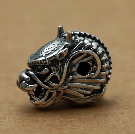 Handmade 925 Silver Dragon Guru Bead Pure Silver Tibetan Mala s Guru Buddhist Prayer Beads Guru