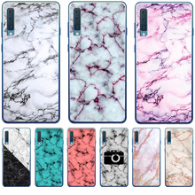 Luxury Marble Letter For Samsung Galaxy A10 A20 A30 A40 A50 A70 M10 M20 phone Case Cover Coque Etui Capinha capa funda shell