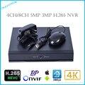 4 К ИЗ 4CH/H.265 8-КАНАЛЬНЫЙ P2P 5MP Onvif 3-МЕГАПИКСЕЛЬНОЙ Сетевой Видеорегистратор для H.265 IP Камеры, FULL HD H.265 NVR P2P Cloud Service XM xmeye