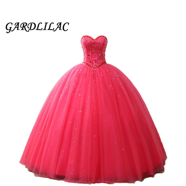Watermelon Ball Gown Quinceanera Dresses 2019 Beaded Vestido de debutante Prom Dress vestidos de 15 anos quinceanera sweet 16