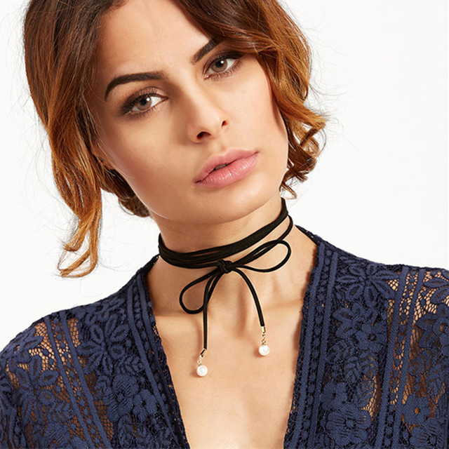 Vintage Gothic Lolita Punk Crystal Choker Necklace Black Victorian Style Tassel Vampire Steampunk Torques Jewellery 2018 HOT