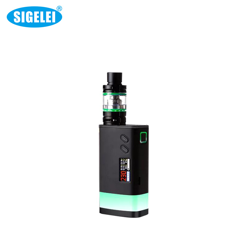 100% Original Sigelei Fuchai Glo Kit 10W~230W Fit for 18650 Battery Electronic Cigarette Atomizer Vaporizer VS Fuchai 213 Mod боксмод sigelei fuchai 213w tc blue силик чехол
