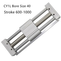 CY1L CY1L40 RMTL Magnetically Coupled Rodless SMC Air Cylinder CY1L40 600 CY1L40 700 CY1L40 800 CY1L40 900 CY1L40 1000