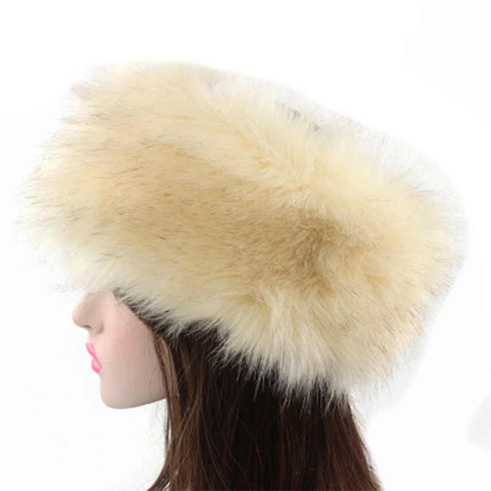 57c5ddf3ab2 Bandana Winter Fur Warm Headband Fox Fur Hat Faux Fur Head Warmer For Noble Women  Earmuff