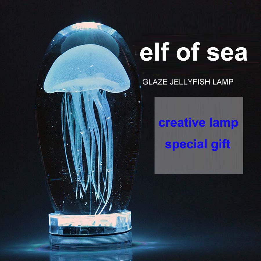 Sea elf LED desk lamp remote control color changing night high quality glaze table light luminaria keyshare dual bulb night vision led light kit for remote control drones
