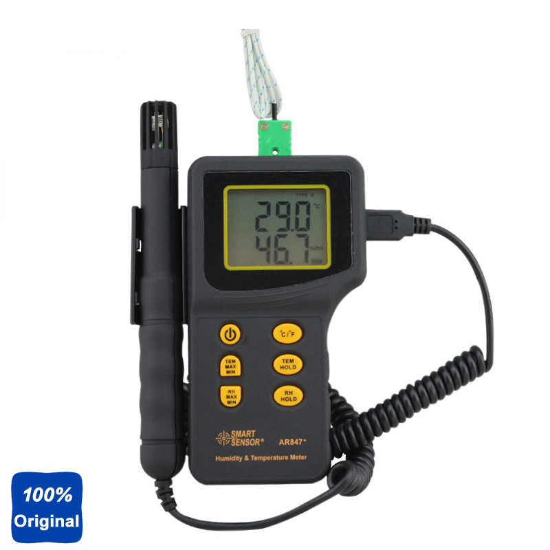 100% Original AR847 Humidity Temp Temperature Meter Environment Tester 5%~98%