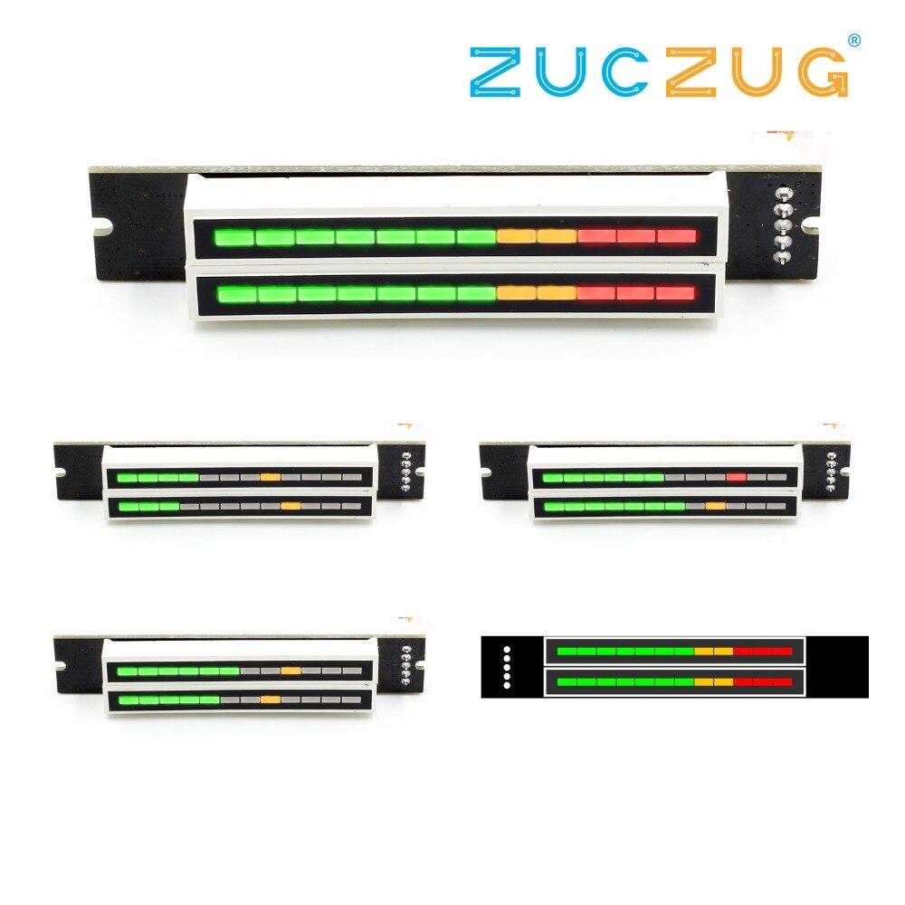 Mini double indicateur de niveau 12 VU le panneau d'amplificateur stéréo panneau de vitesse de lumière réglable avec des KITS de Mode bricolage AGC