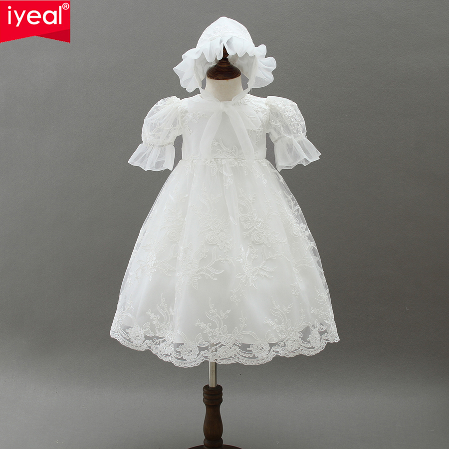 IYEAL Newest High-end Baby Girl Dress for Newborn Christening Gown Kids Infant 1 Year Birthday Wedding Party Christmas Dresses