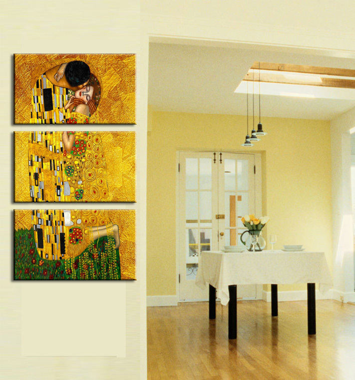3 Pieces/set Gustav Klimt Printed Painting on Canvas Wall Art Prints ...