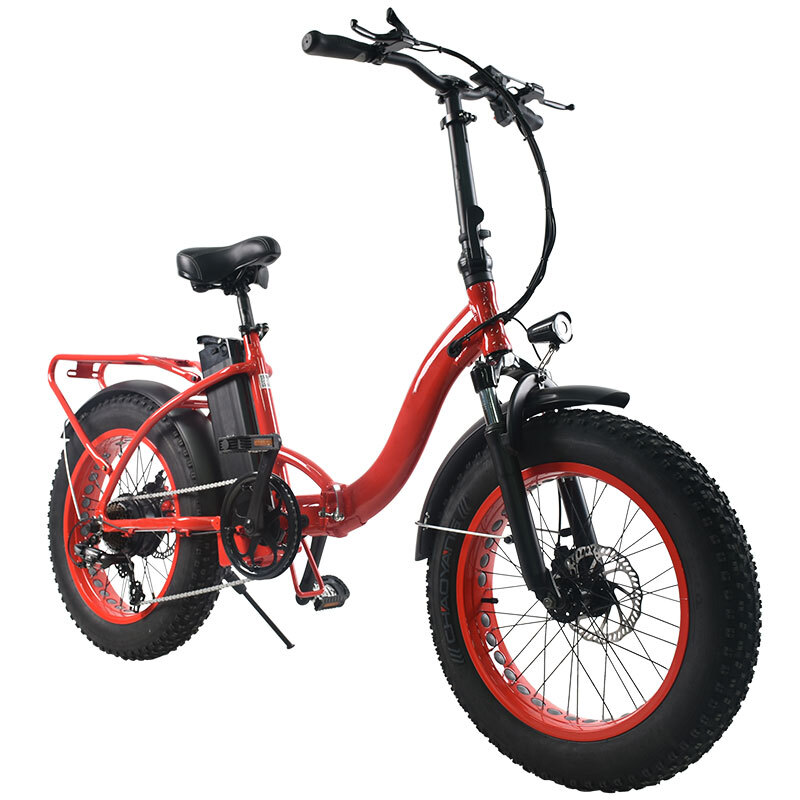 20inch Snow electric bicycle 48V10AH lithium battery 500w rear wheel motor fat e bike folding electric mountian bicycle