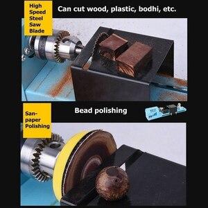 Image 5 - Mini لتقوم بها بنفسك 150 واط مخرطة الخشب حبة آلة قطع الحفر تلميع النجارة طحن أداة