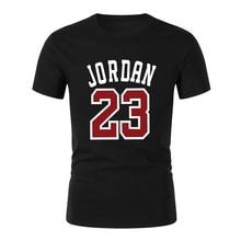 High Quality New Arrivals Michael Jordan 23 Men's T shirt 2018 fashion Printed Casual Digital Patchwork T-shirt Male Tees Tops