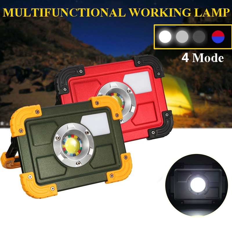 30W 4 Mode COB LED Flood Light Portable Outdoor Camping Lights USB Rechargeable Emergency Lamp Work Spot Lighting Hiking Lamp cob led flood light dimmable 100w portable led floodlight cordless work light rechargeable spot outdoor working camping lamp