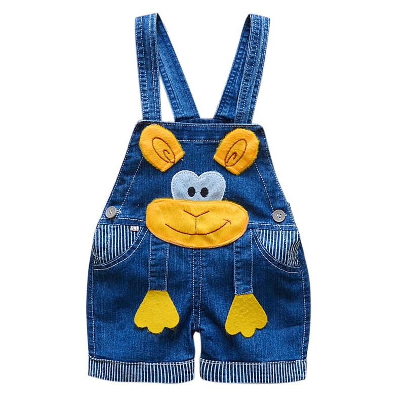 81f352b1325b 0-3T Baby Boys Girls Denim Short Overalls For Summer Infant Toddler Kids  Jeans Rompers Cute Animal Jumpsuit For Child Clothes