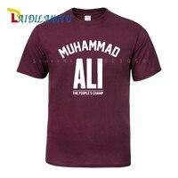 การออกแบบใหม่ล่าสุดแฟชั่นมูฮัมหมัดอาลีของผู้คนแชมป์เสื้อยืดฤดูร้อนผู้ชาย/ชายการ์ตูน