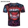Comando suicida Camiseta 3D Impreso Hombres camiseta Hip Hop Roca Camisetas de La Novedad Boca Bromista Superior de Manga Corta de Verano 2017 ZOOTOP OSO