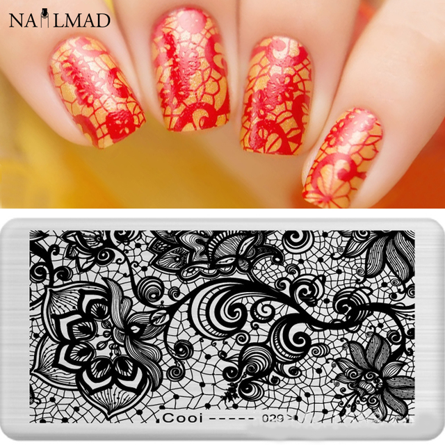 1pc Lace Nail Art Stamping Template Illusion Stamping Plate ...