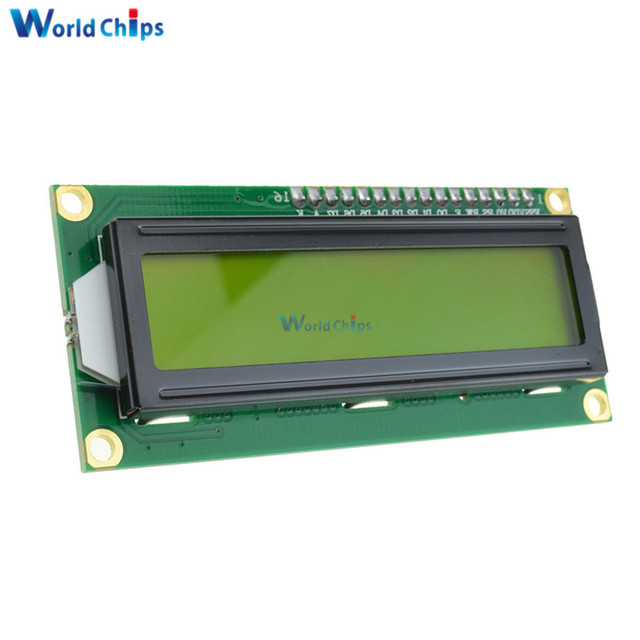 Free Shipping LCD1602 1602 LCD HD44780 Screen Character LCD Display Yellow Blacklight TFT 16X2 LCD Module DC 5V